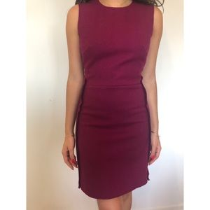 Victoria Beckham Dresses - Victoria Beckham Wool Burgundy Dress